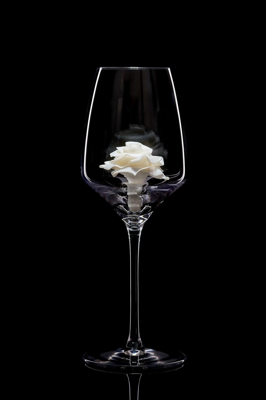 Бокал для белого вина – Белая роза.
