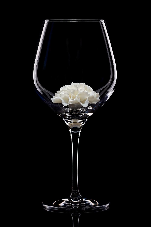 Бокал для красного вина Белая гвоздика.