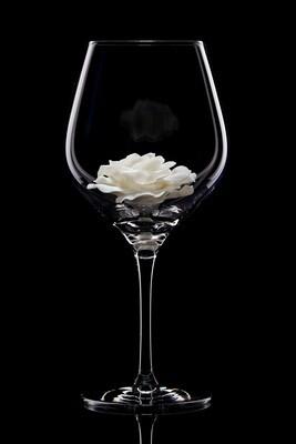 Бокал для красного вина Роза белая