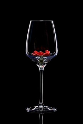 Бокал для белого вина. Мак алый.