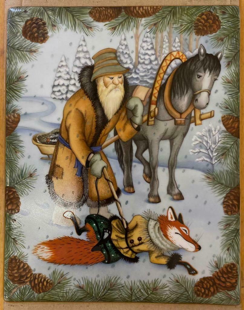 Фарфоровые пласты: Лиса и Волк, Лиса и Старик.