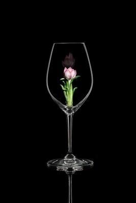 Бокал для шампанского Крокус розовый, стекло Ридель.