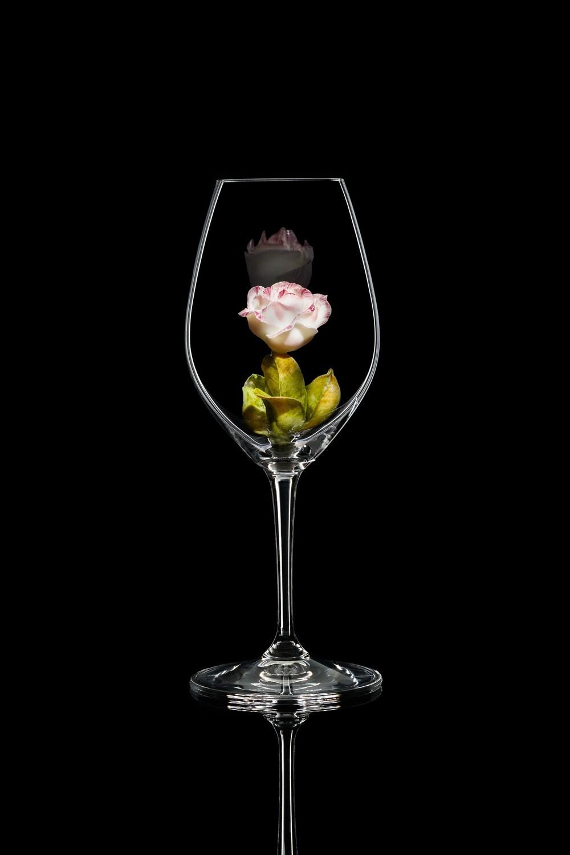 Бокал для шампанского Роза бутон, стекло Ридель.