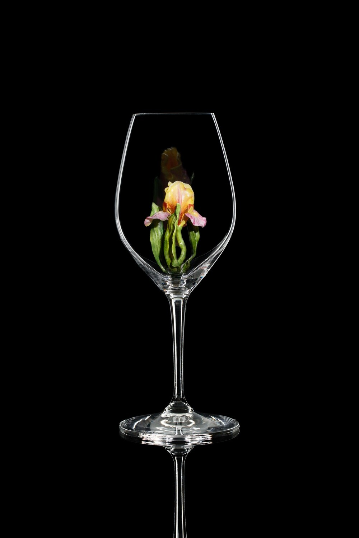 Бокал для шампанского Ирис розовый, стекло Ридель.