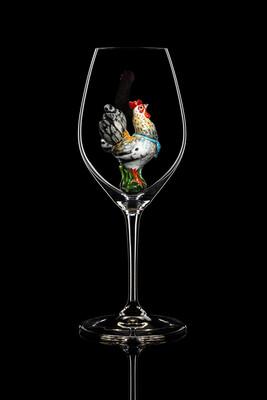 Бокал для шампанского и белого вина (Петух А). Стекло Ридель.