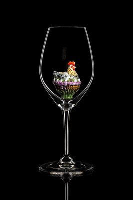 Бокал для шампанского и белого вина (Курица А). Стекло Ридель.