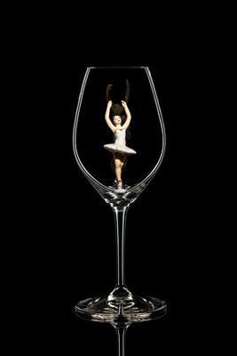 Бокал для шампанского, Балерина в белом. Стекло Ридель.