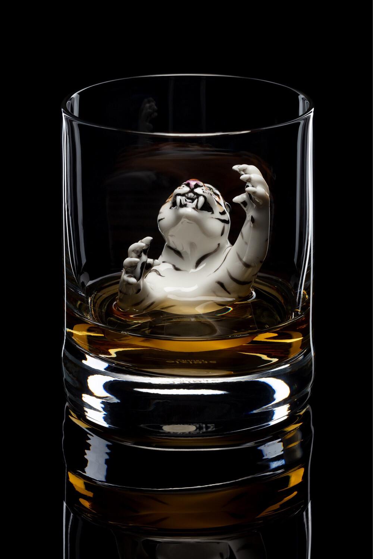 Бокал для виски - Тигр.