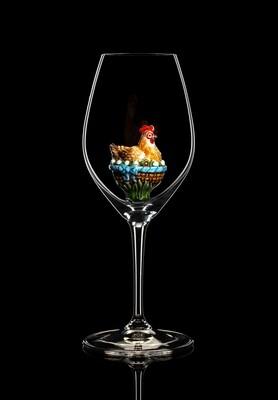 Бокал для шампанского и белого вина (Курица). Стекло Ридель.
