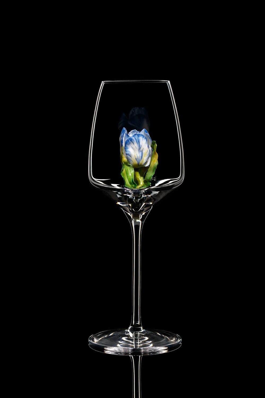 Бокал для белого вина - Тюльпан синий.