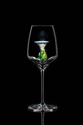 Бокал для белого вина Вьюнок синий.