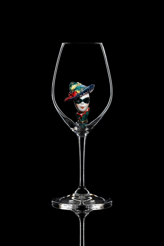 Бокал для шампанского Маска (Чёрная шляпа). Стекло Ридель.