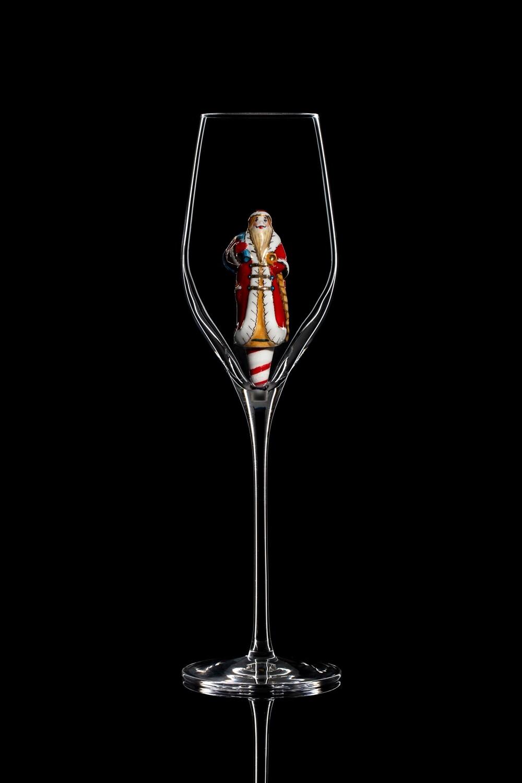 Бокал для шампанского Дед Мороз