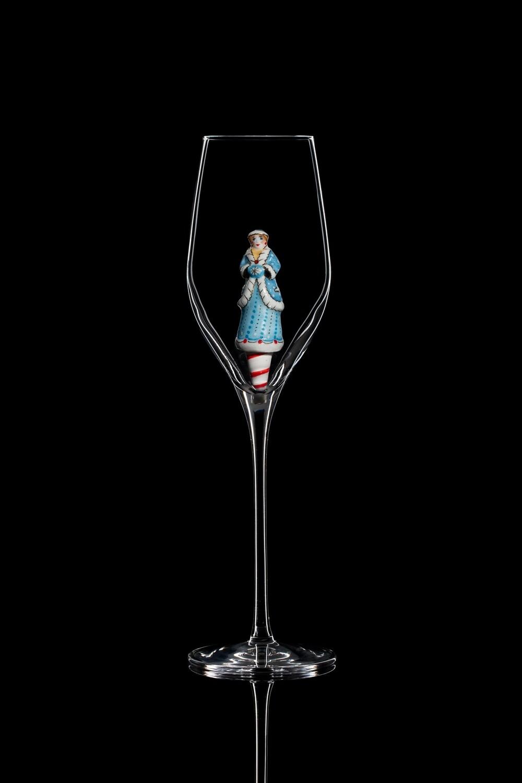 Бокал для шампанского Снегурочка.