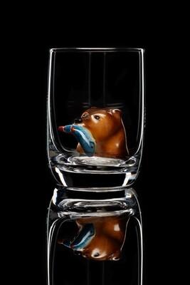 Стопка под водку Бурый медведь.