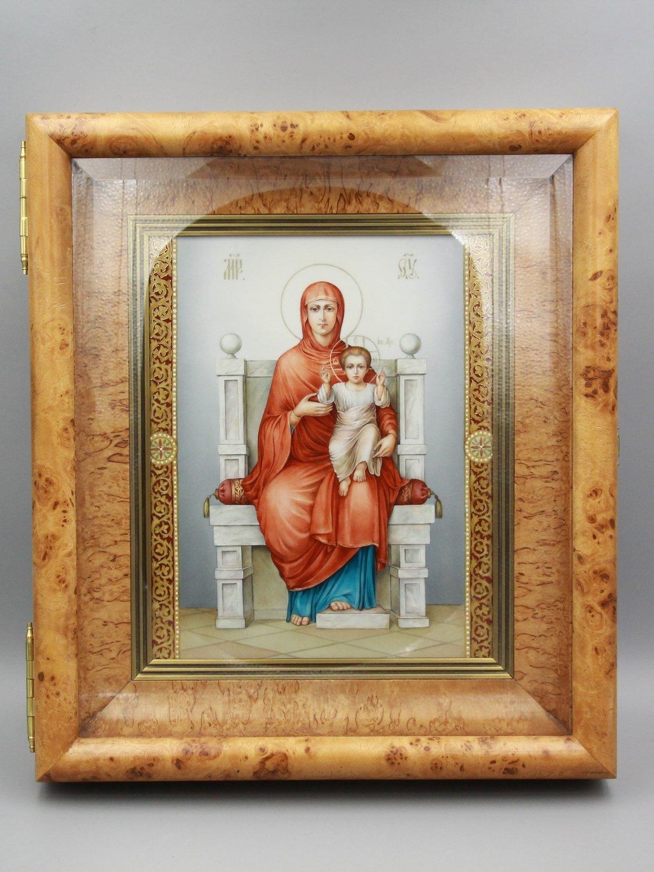 """Икона """"Богородица на троне"""""""