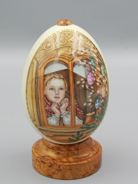 """Яйцо пасхальное """"В ожидании"""""""
