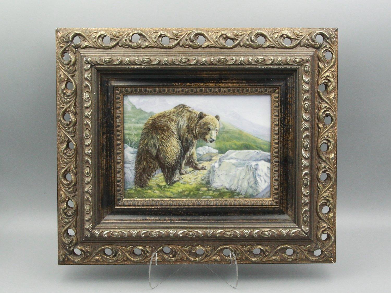 """Фарфоровый пласт """"Медведь"""""""