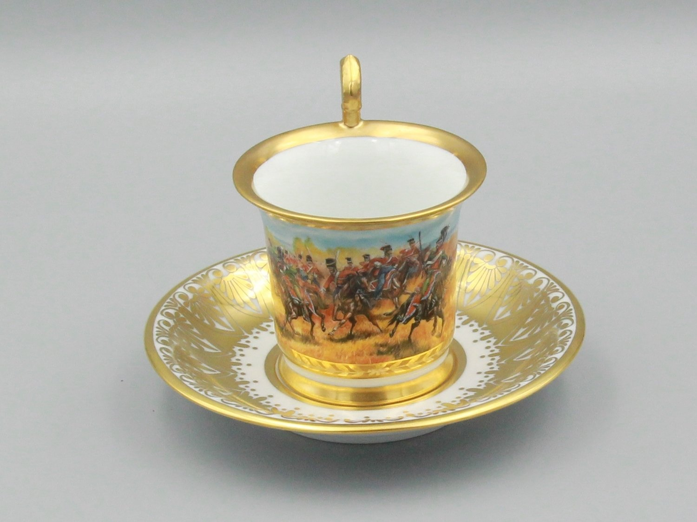 "Чашка ""Атака лейб-казаков на баварцев при Бородино"""