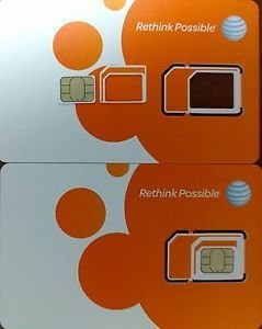 AT&T - Unlimited 4G LTE 3 Cut Sim Card (BYOD) 30 Days Included