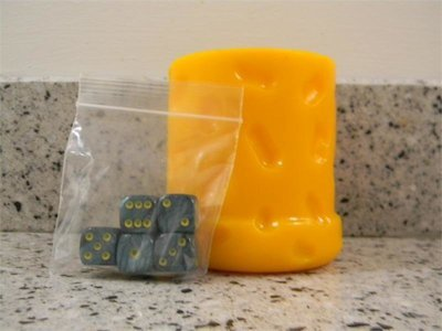 Wisconsin Cheese Dice Cup & Green Dice