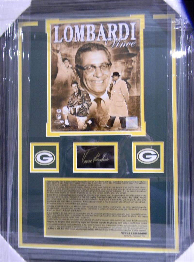 Vince Lombardi Autographed Photo Collage