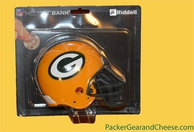 Green Bay Packers Ridell Helmet Coin Bank