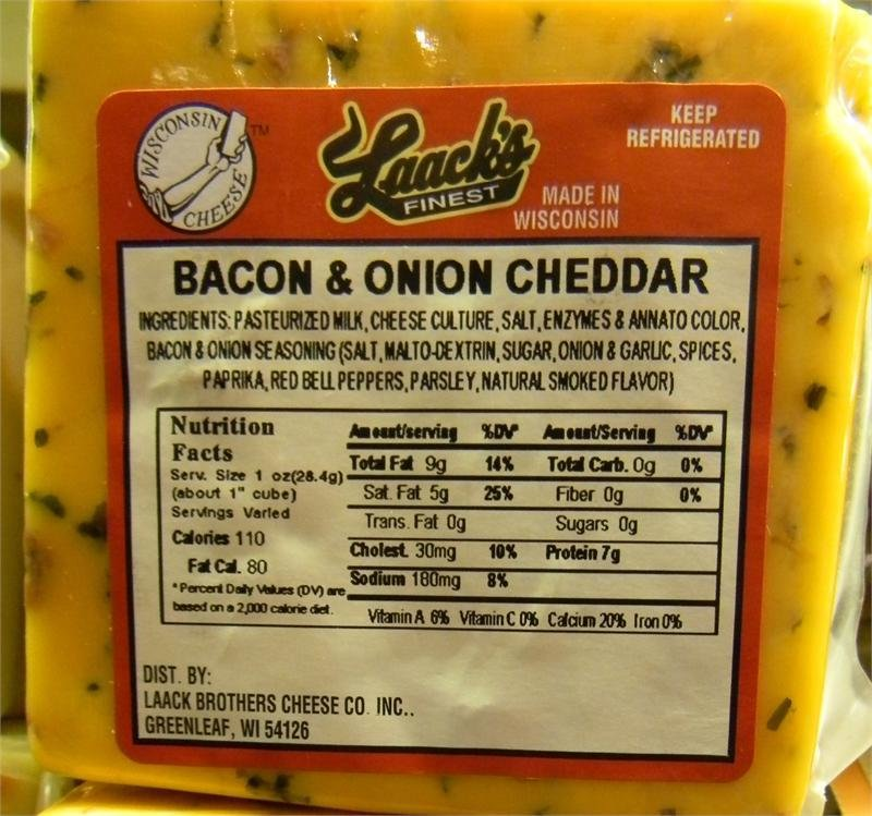 Laack's Finest Bacon & Onion Cheddar Cheese