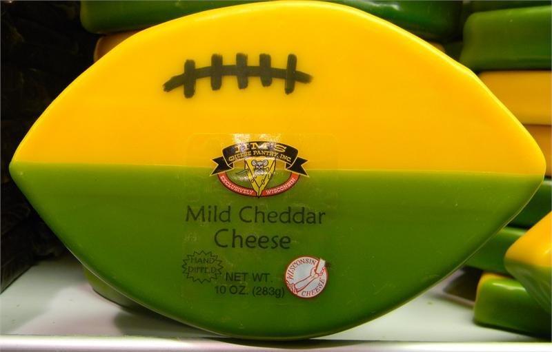 Wisconsin Mild Cheddar Cheese 10oz. Football