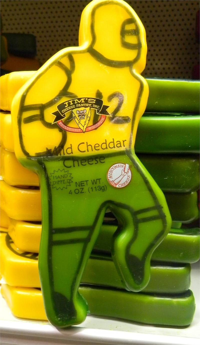 Wisconsin Mild Cheddar Cheese 4oz. Football Player