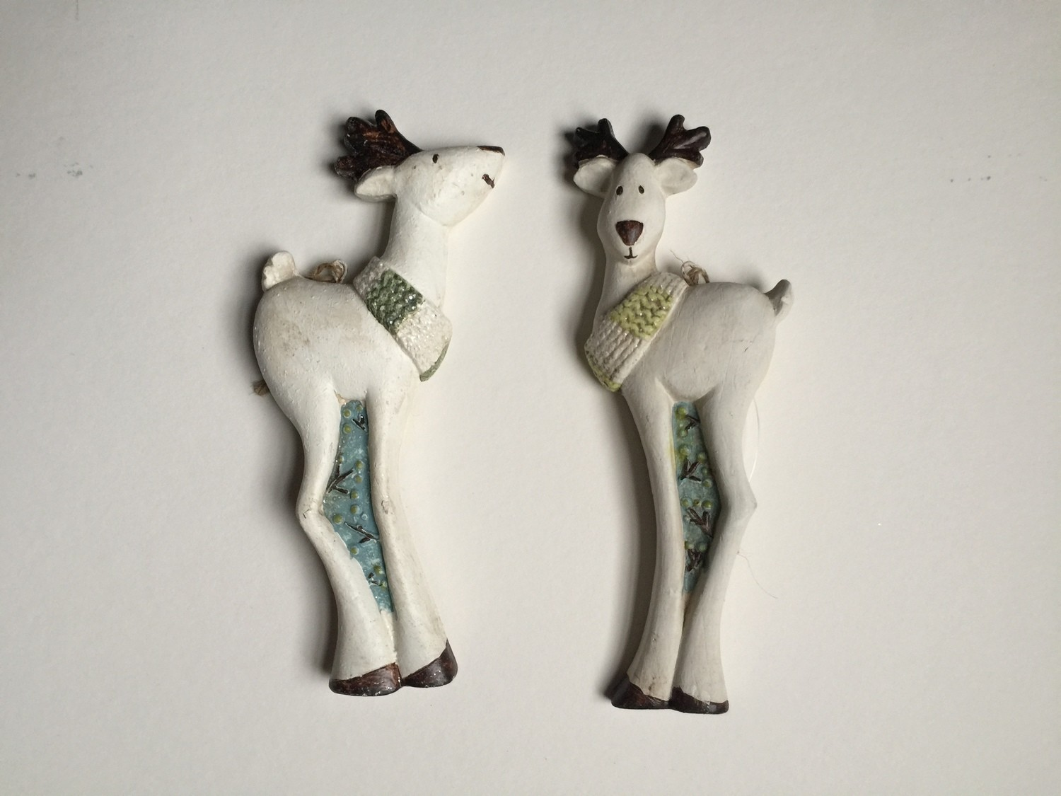 Paperstone Reindeer Ornaments, Set of 2