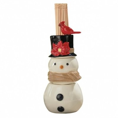Christmas Song Snowman Salt and Pepper Shaker and Toothpick Holder