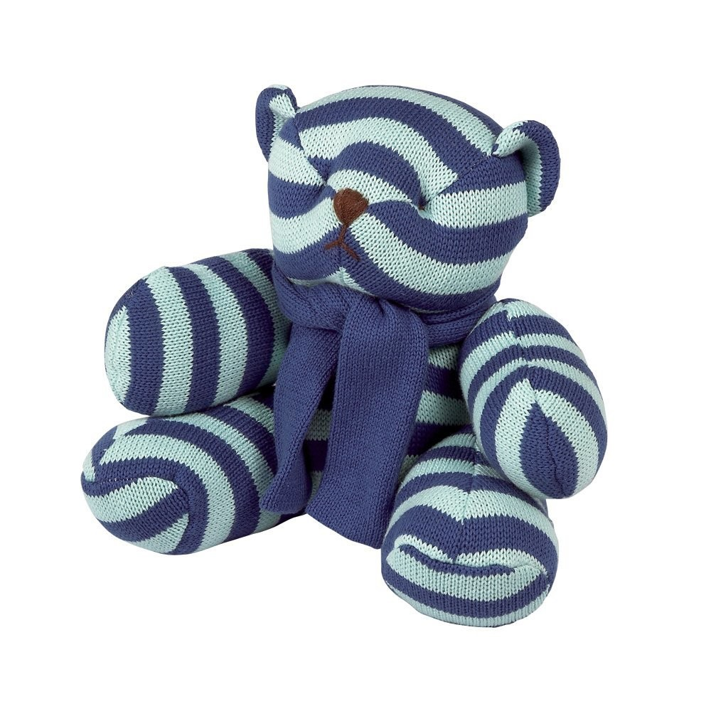Elegant Baby Striped Teddy Bear