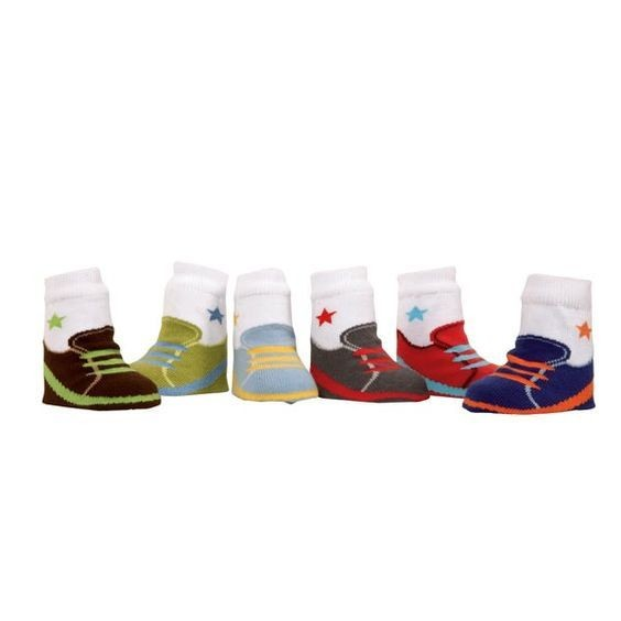 Sam's Sneakers, Set of 6 Baby Socks