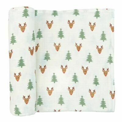 Muslin Christmas Swaddle Blanket