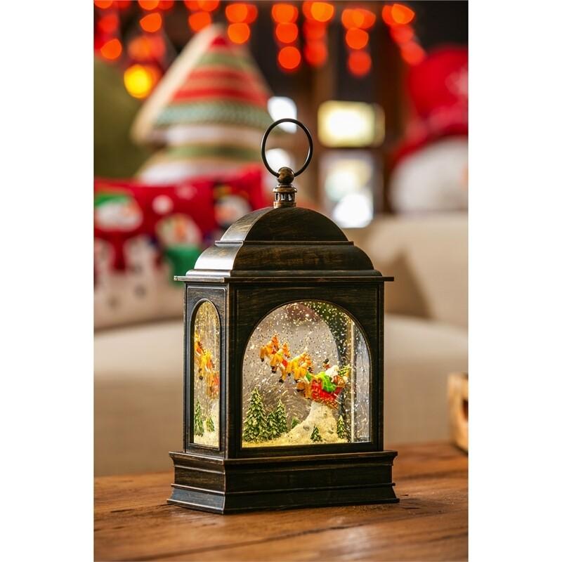 Santa's Sleigh Musical Lantern