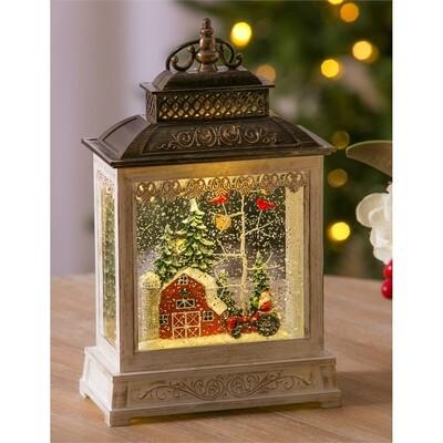 Winter Barn Musical Lantern