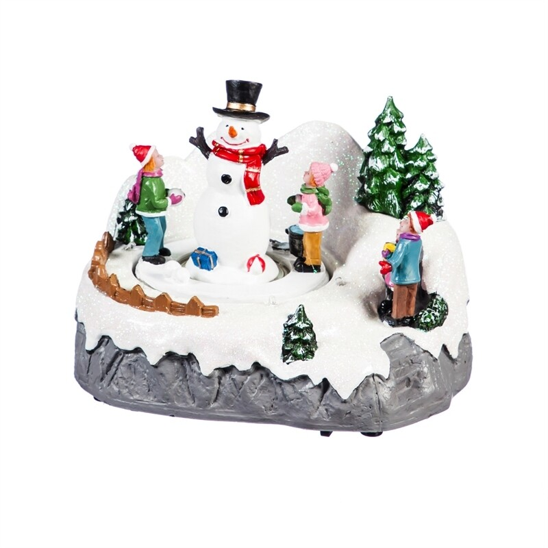 Light-Up Snowman Village