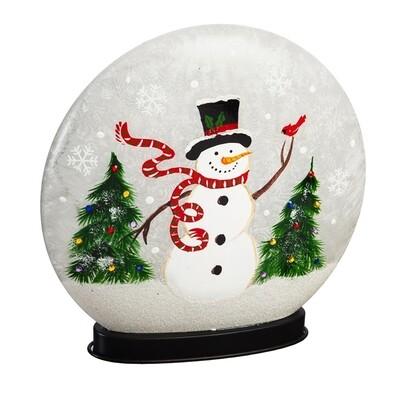 Snowman & Cardinal LED Disc