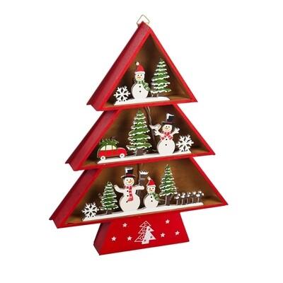 Christmas Tree Snowman Village