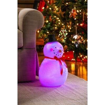 Light Up Acrylic Snowman