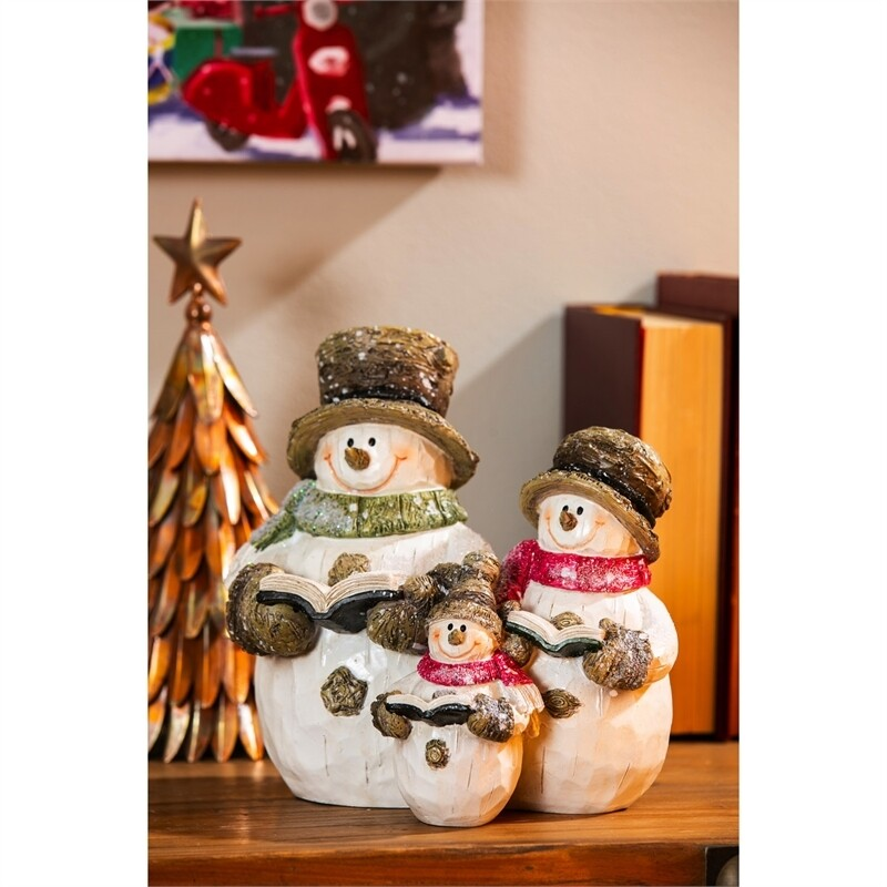 Snowman Family Table Top Decor