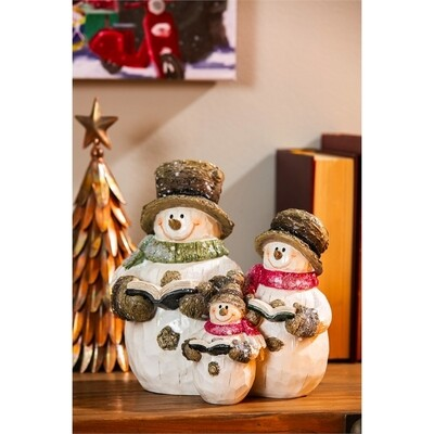 Snowman Family Table Top Decor