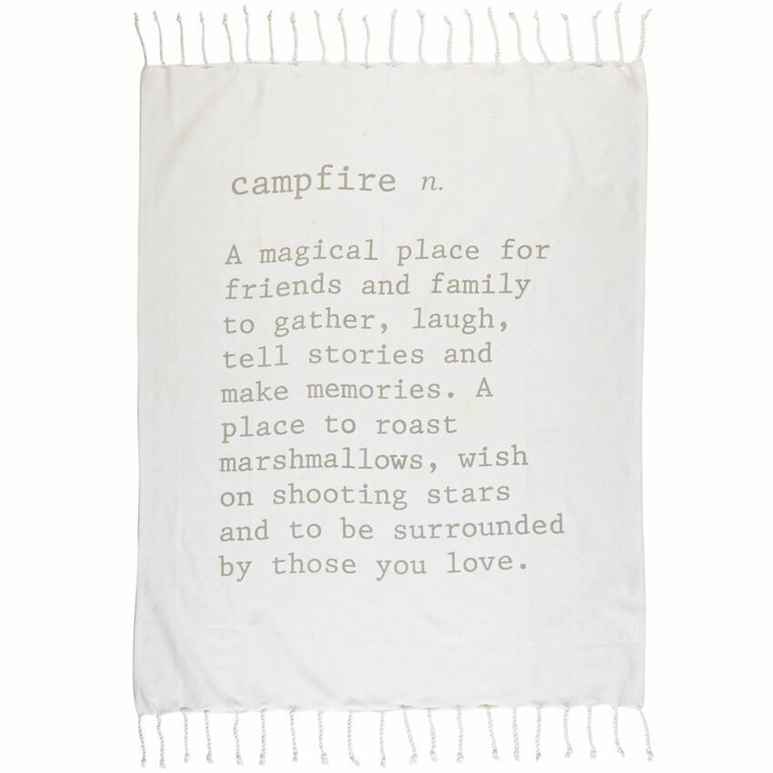 Campfire Definition Throw Blanket