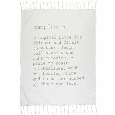 Campfire Definition Throw Blanket