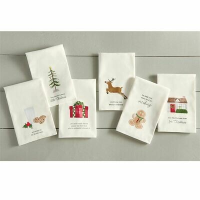 Christmas Icon Tea Towels, Set of 6 Assorted
