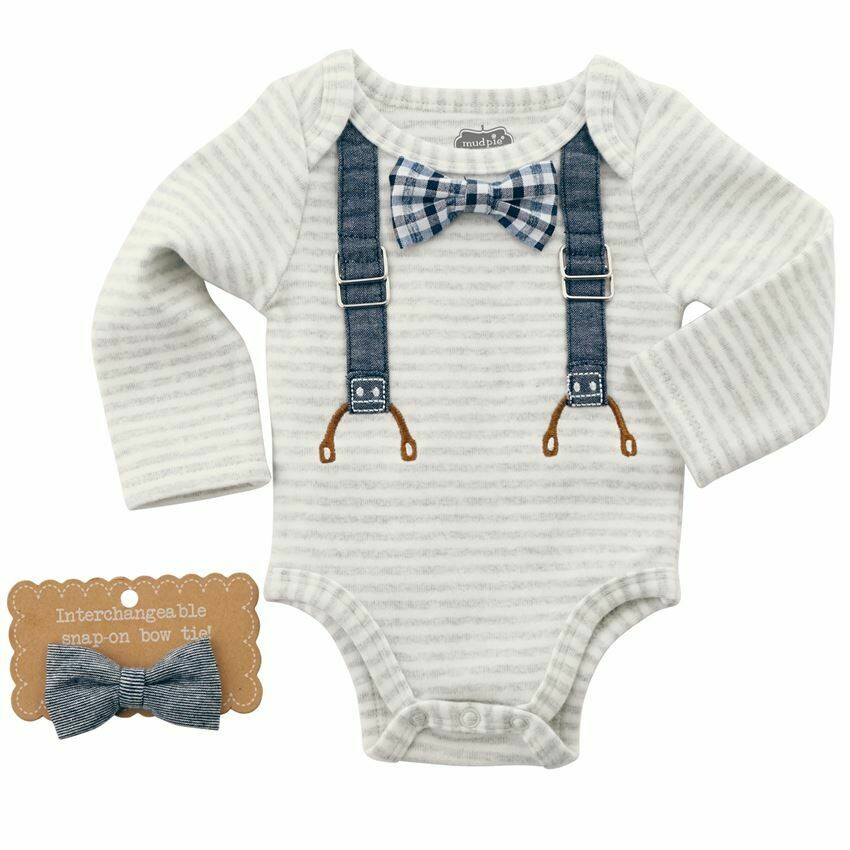 Bowties and Suspenders Onesie