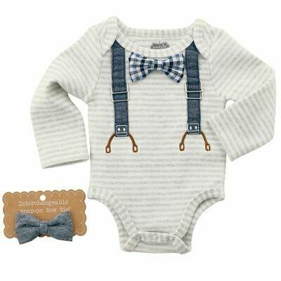Bowties and Suspenders Onesie