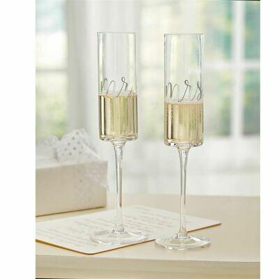 Mr. and Mrs. Wedding Champagne Set