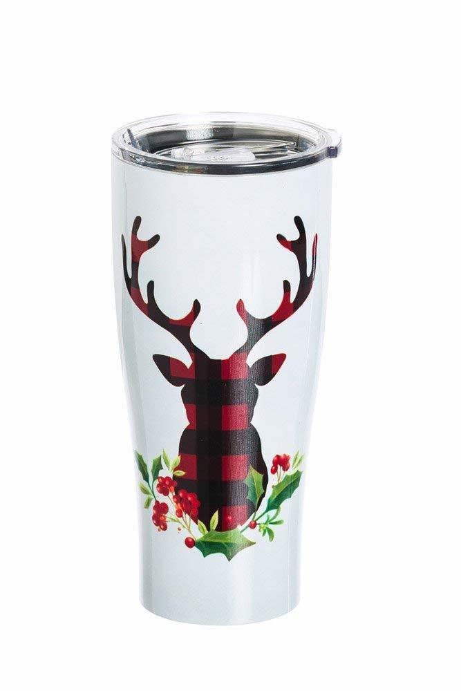Plaid Stag Stainless Steel Beverage Cup, 17oz